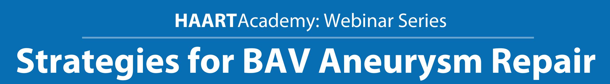BAV Aneurysm Repair - web title